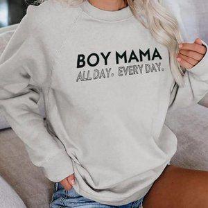"""Never warn, """"Boy Mama"""" sweater!"""